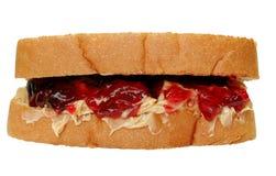 Beurre d'arachide et sandwich à gelée Image libre de droits