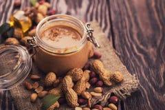 Beurre d'arachide naturel Photographie stock libre de droits