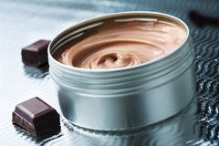 Beurre de chocolat Images stock