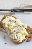 Beurre de lavande photo stock