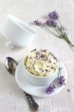 Beurre de lavande photographie stock libre de droits
