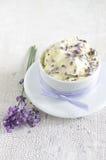 Beurre de lavande image stock