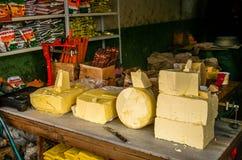 Beurre de yaks en vente Images libres de droits