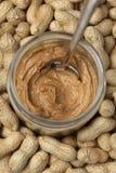 Beurre et arachides d'arachide Photo libre de droits