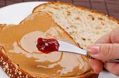 Beurre et gelée d'arachide Photo stock