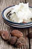 Beurre et noix de bassie Photo libre de droits