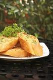 Beurre et pain à l'ail Image libre de droits