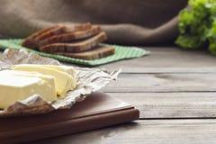 Beurre et pain Photographie stock libre de droits