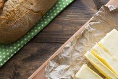 Beurre et pain Image libre de droits