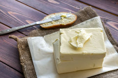 Beurre frais Photographie stock