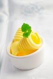 Beurre roulé crémeux frais photos libres de droits