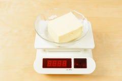 Beurre sur l'échelle Image stock
