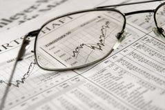 Beurs in de nadruk Stock Foto's