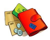 Beurs en geld stock illustratie