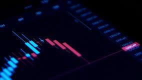 Beurs financiële gegevens die over het scherm, het economische indexen toenemen bewegen zich vector illustratie