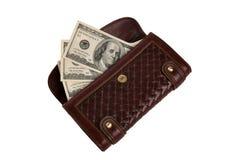 Beurs met contant geld royalty-vrije stock afbeelding