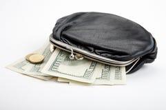 Beurs met contant geld Stock Afbeelding