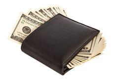 Beurs met dollars Stock Foto's