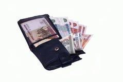 Beurs met geld Royalty-vrije Stock Foto's