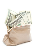 Beurs met geld Royalty-vrije Stock Foto