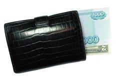 Beurs met geld Royalty-vrije Stock Afbeelding