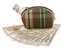 Beurs met geld Stock Afbeeldingen