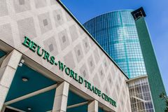 Beurs World Trade Center Rotterdam royalty free stock image