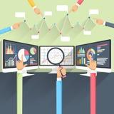 Beurstarieven op monitors Stock Foto's