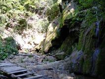 BeusniÅ£a, de meest spectaculaire waterval in Roemenië stock fotografie