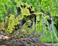 Beusnita瀑布在罗马尼亚 图库摄影