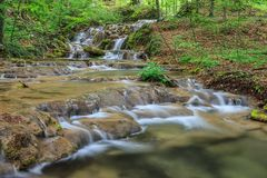 Beusnita stream, Romania Stock Images