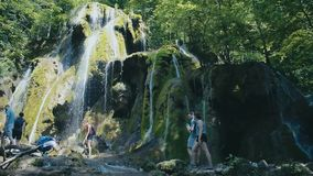 Beusnita waterfall in Beusnita National Park Romania