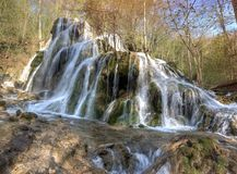 Beusnita Waterfall, Cheile Nerei, Caras-Severin county, Romania Royalty Free Stock Photo