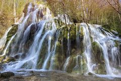 Beusnitawaterval, Cheile Nerei, caras-Severin provincie, Roemenië Stock Afbeelding