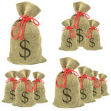 Beutel der Gelddollar Stockfotos