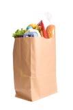 Beutel der Lebensmittelgeschäfte auf Weiß Lizenzfreies Stockbild