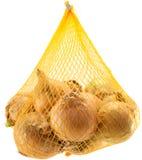 Beutel der Zwiebeln Stockfoto