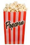 Beutel des frischen herausgesprungenen Popcorns Stockfotografie