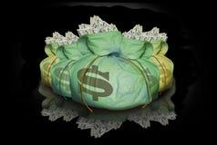 Beutel des Geldes mit Reflexion Lizenzfreies Stockbild
