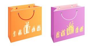 Beutel mit Geschenken Lizenzfreie Stockbilder