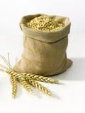 Beutel mit Getreide Stockfoto