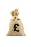 Beutel mit Poundzeichen Stockbilder