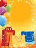 Beutel und Ballone lizenzfreie abbildung