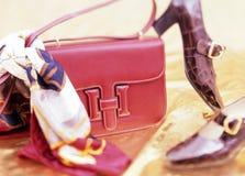 Beutel und Schuhe Lizenzfreies Stockfoto