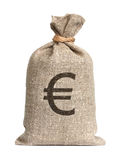 Beutel vom Euro. Lizenzfreie Stockbilder