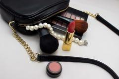 Beutel von Kosmetik Stockfotografie