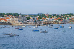 Beutiful beach and city in Portugal. Stock Photography