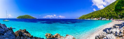 Beutiful beaches of Skopelos island. Kastani beach, Greece. royalty free stock image