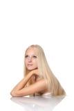 Beutiful blond woman Stock Photos