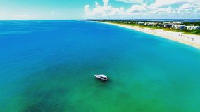Beutiful day at the beach from a drone dji Stock Images